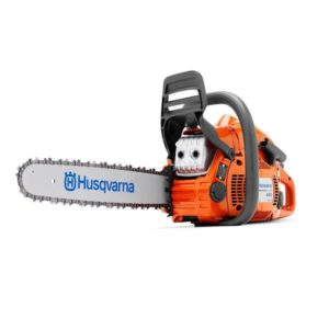 "HUSQVARNA PETROL CHAINSAW 45.7CC 16"" BAR 325 .050 445E"