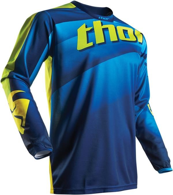 THOR PULSE VELOW JERSEY NVY/LIME SM S17