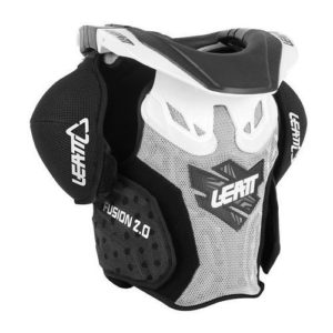 LEATT FUSION VEST JUNIOR SMALL/MEDIUM WHITE/BLACK