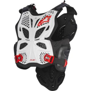 ALPINESTAR A10 CHEST ARMOUR WHT/BLK/RED M/L