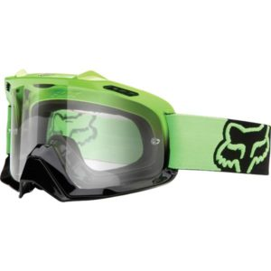 FOX AIRSPC GOGGLE DAY GLO GREEN CLEAR LENS