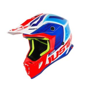Just1 J38 Blade Motocross Helmet blu/red/wht M