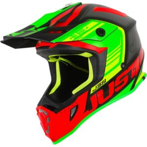 Just1 J38 Blade Motocross Helmet red/lime/blk matt S