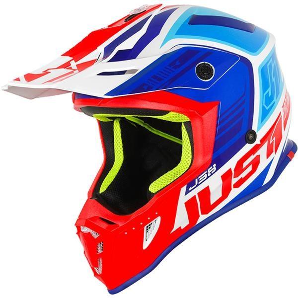 Just1 J38 Blade Motocross Helmet blu/red/wht M