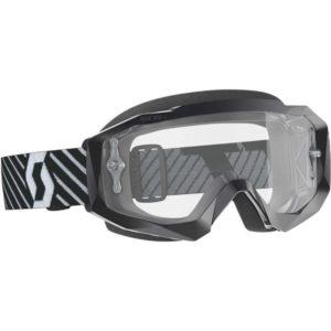 SCOTT HUSTLE X MX GOGGLE black/white clr lens