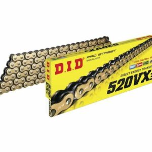 DID 520 VX3 X-RING PRO CHAIN GLD/BLK 120L