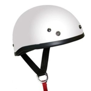 HELMET T70 WHITE WITH STUDS MED