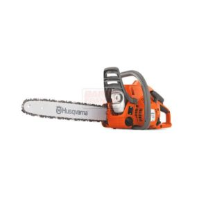 "HUSQVARNA 120E MARK II CHAINSAW 16"" Bar length (inch) 16"" Cylinder displacement 38.2 cm³ Power output 1.4 kW Weight (excl. cutting equipment) 4.85 kg"