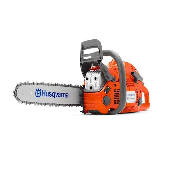 "HUSQVARNA PETROL CHAINSAW 55.5CC 18"" BAR 325 .058 AUTOTUNE 455AT"