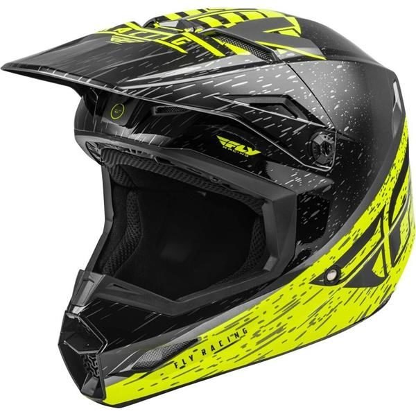 Fly Racing 2020 Kinetic K120 Hi-Vis/Grey/Black Helmet 2XL