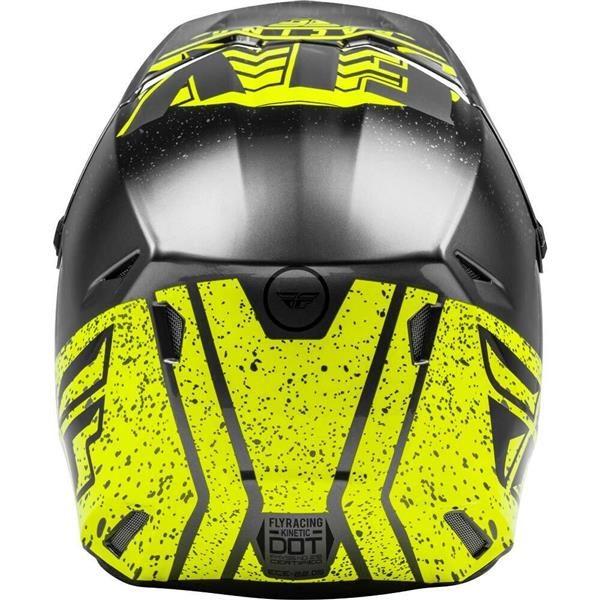 Fly Racing 2020 Kinetic K120 Hi-Vis/Grey/Black Helmet XL