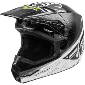 Fly Racing 2020 Kinetic K120 Black/White/Hi-Vis Helmet L