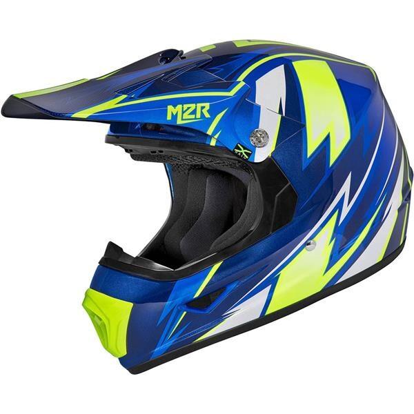 M2R XYOUTH Thunder PC-2 Blue Kids Helmet