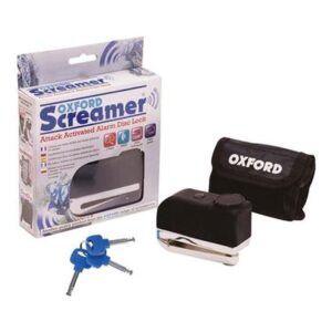 OXFORD SCREAMER 100db ALARM DISC LOCK CHR/BLK