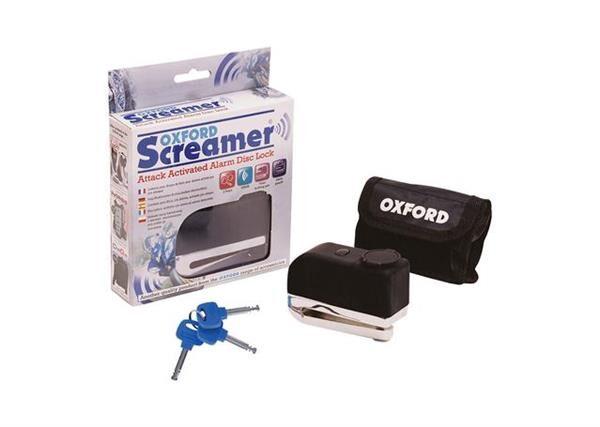 OXFORD SCREAMER 100db ALARM DISC LOCK CHR/BLK