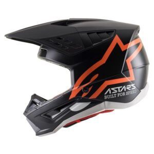 SM5 COMPASS HELMET ECE Matte Black Fluro Orange M/58